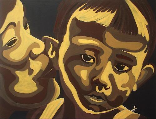 Amigold, Mama beruhigt ihr Kind, People: Portraits