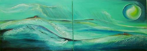 Amigold, Hinterm Horizont (Zweiteiler), Abstract art, Landscapes: Sea/Ocean