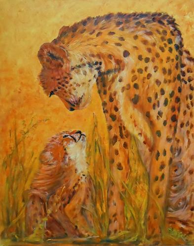Amigold, Mama Chita mit ihrem Kleinen, Animals: Land