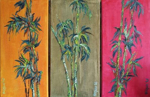 Amigold, Bambustriptychon, Plants: Trees