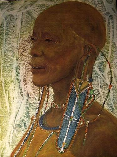 Amigold, alte Masai-Frau, People: Portraits