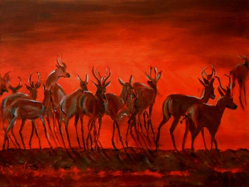 Amigold, Abendstimmung in Afrika, Animals: Land, Contemporary Art