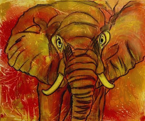 Amigold, Krafttier Elephant, Animals: Land, Contemporary Art