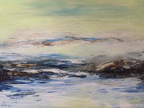Amigold, Spiegelung, Landscapes: Sea/Ocean, Contemporary Art