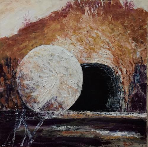 Amigold, Risurrezione - Auferstehung, Landscapes: Hills, Contemporary Art, Expressionism