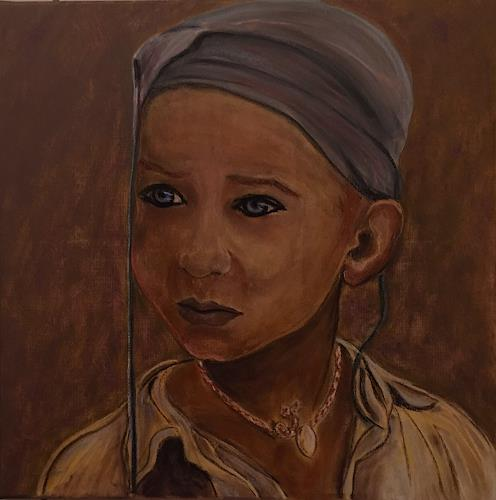 Amigold, Kann ich dir vertrauen?, People: Portraits, Contemporary Art, Expressionism
