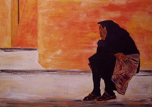 Amigold, Alte in Essaouira - Marocco, People: Women, Abstract Art