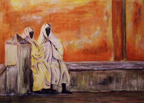Amigold, Frauen in Essaouira Marocco, People: Group, Abstract Art