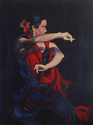 Amigold, Flamenco II, Movement, Abstract Art