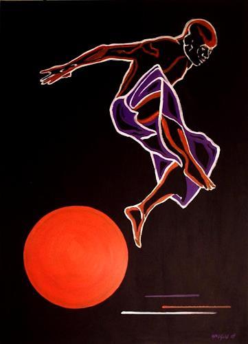 Amigold, Sun Jumping, Movement, Abstract Art