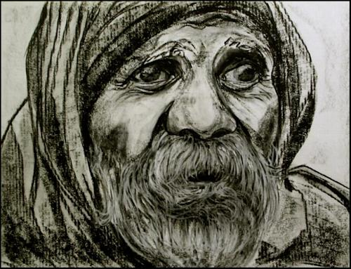 Amigold, old man in love / India, People: Faces
