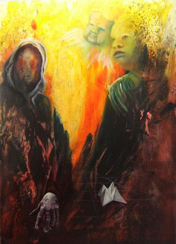 Michael Martensen, out of hell, Mythology, Contemporary Art, Abstract Expressionism