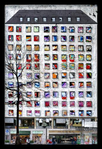 Klaus Netzle, GALERIE OTTO, Architecture, Buildings: Skyscrapers, Contemporary Art, Expressionism