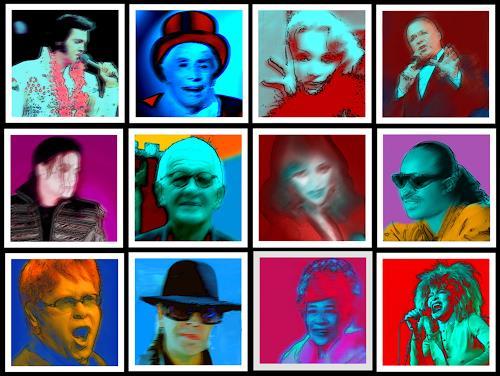 Klaus Netzle, MUSIC-JUNGLE, Decorative Art, Fantasy, Contemporary Art