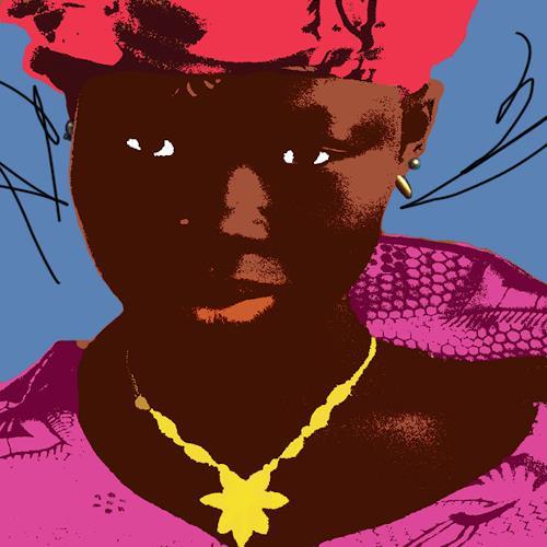 Miriam Stone, ghana woman, People: Portraits, Pop-Art