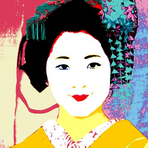 Miriam Stone, geisha, Society, People: Faces, Pop-Art, Expressionism