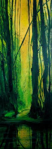 Elfriede Breitwieser, Wasserwege 8, Landscapes, Naturalism
