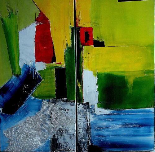 Elfriede Breitwieser, Kontraste 21, Abstract art, Non-Objectivism [Informel]