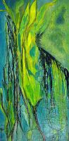 Elfriede-Breitwieser-Plants-Modern-Age-Abstract-Art-Non-Objectivism--Informel-