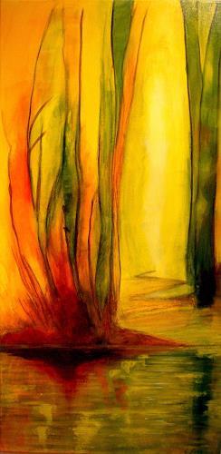 Elfriede Breitwieser, Wasserwege 3, Landscapes, Naturalism