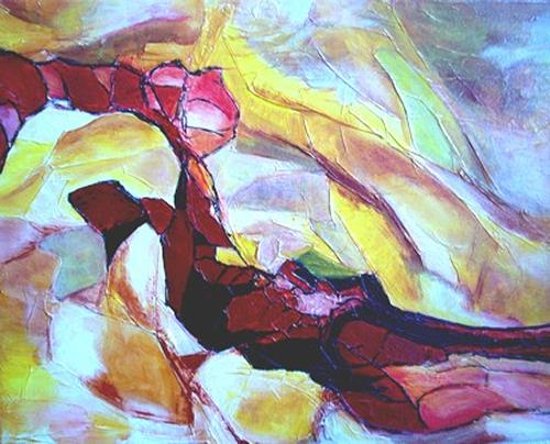 Elfriede Breitwieser, Herbstimpression, Abstract art, Abstract Art
