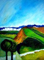 Elfriede-Breitwieser-Landscapes-Hills-Modern-Age-Naturalism