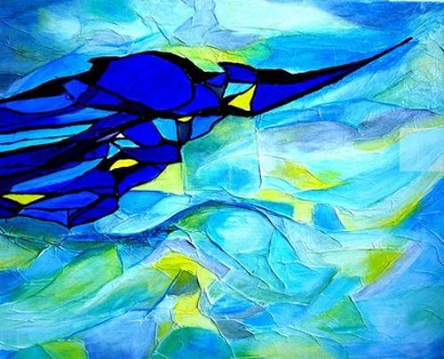 Elfriede Breitwieser, Winterimpression, Abstract art, Abstract art, Abstract Art
