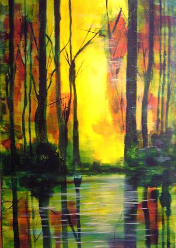 Elfriede Breitwieser, Wasserwege 6, Landscapes, Naturalism, Expressionism