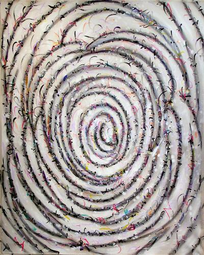 Richard Lazzara, Mondrian Spiral, Abstract art, Bauhaus, Abstract Expressionism