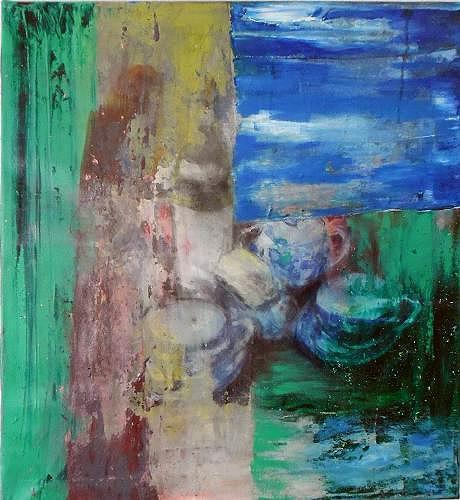 Ursula Guttropf, Zeitfenster 2, Still life, Still life, Abstract Expressionism