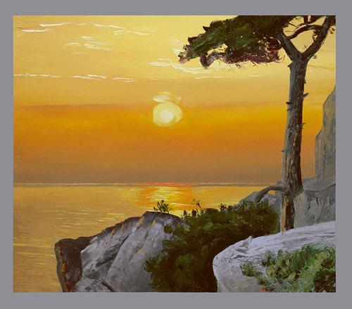 Valeriy Grachov, Gold Crimea, Landscapes: Sea/Ocean, Nature: Water, Contemporary Art