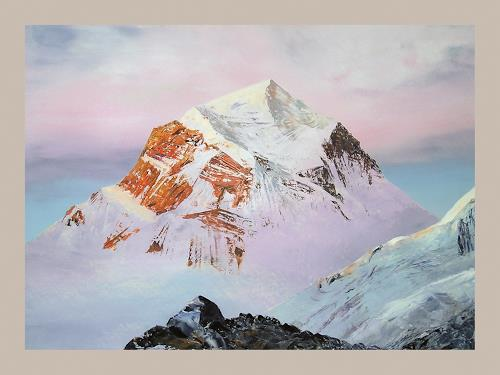 Valeriy Grachov, Himalayas 1011, Landscapes: Mountains, Nature: Rock, Contemporary Art, Expressionism