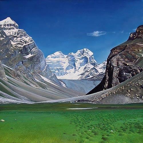 Valeriy Grachov, Pamirs 101, Landscapes: Mountains, Nature: Rock, Realism, Expressionism