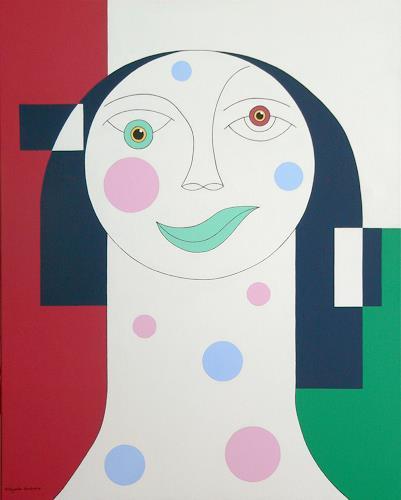 Hildegarde Handsaeme, TRISTESSE, Decorative Art, People: Faces, Contemporary Art, Expressionism