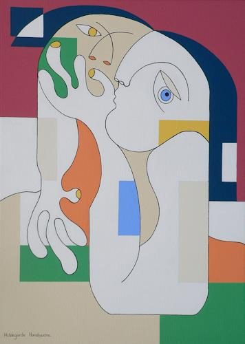 Hildegarde Handsaeme, ANONYMUS, People: Couples, Emotions: Love, Constructivism, Expressionism