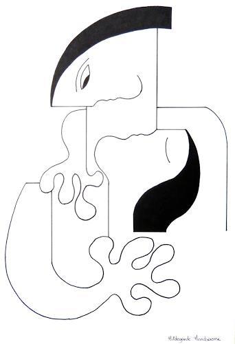 Hildegarde Handsaeme, L'Amour Fou, People: Couples, Abstract art, Constructivism