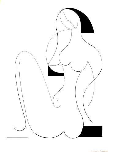 Hildegarde Handsaeme, Femme Fatale, Erotic motifs: Female nudes, People: Women, Constructivism, Expressionism
