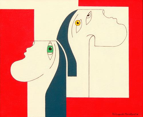 Hildegarde Handsaeme, OBSTINATE, People: Faces, Fantasy, Constructivism, Expressionism