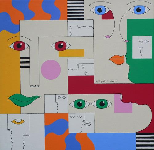 Hildegarde Handsaeme, CONFUSED, Death/Illness, Emotions: Depression, Contemporary Art, Expressionism