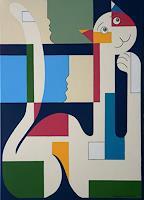 Hildegarde-Handsaeme-Animals-Land-Humor-Modern-Age-Constructivism
