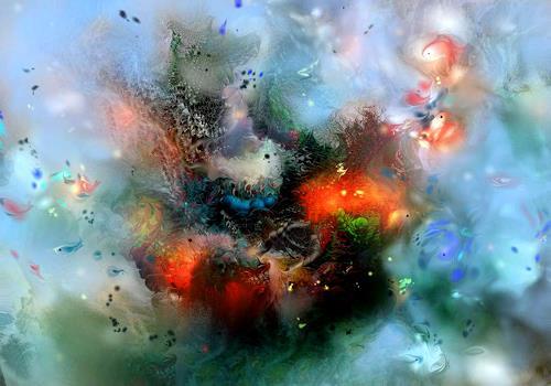 Natalia Rudsina, AQUA 3, Abstract art, Fantasy, Expressionism