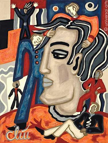 universal arts Jacqueline Ditt & Mario Strack, Multiple Personality von Jaqueline Ditt, People: Portraits, People: Men, Expressionism