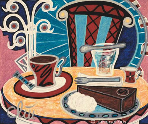 universal arts Jacqueline Ditt & Mario Strack, Coffee Old Vienna von Jacqueline Ditt, Still life, Meal, Expressionism