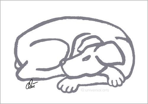 universal arts Jacqueline Ditt & Mario Strack, Dog -Grey, Miscellaneous Animals, Animals: Land, Pop-Art