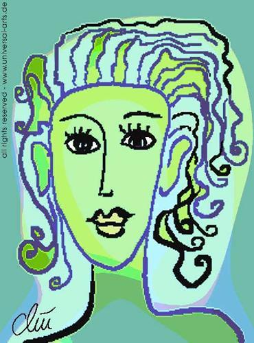 universal arts Jacqueline Ditt & Mario Strack, Die Hoffnung von Jacqueline Ditt, People: Portraits, People: Women, Expressionism