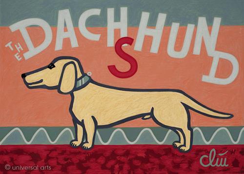 universal arts Jacqueline Ditt & Mario Strack, The Dachshund, Animals, Animals: Land, Pop-Art