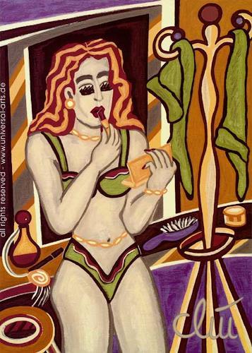 universal arts Jacqueline Ditt & Mario Strack, Line up von Jacqueline Ditt, Erotic motifs: Female nudes, Miscellaneous Erotic motifs, Expressionism