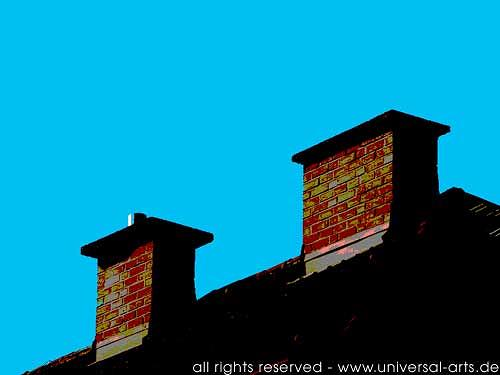 universal arts Jacqueline Ditt & Mario Strack, The Roof is on Top 1 von Mario Strack, Architecture, Buildings: Houses, Minimal Art