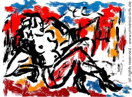 universal arts Jacqueline Ditt & Mario Strack, Die Sünde von Jacqueline Ditt, Erotic motifs: Female nudes, Miscellaneous Erotic motifs, Expressionism