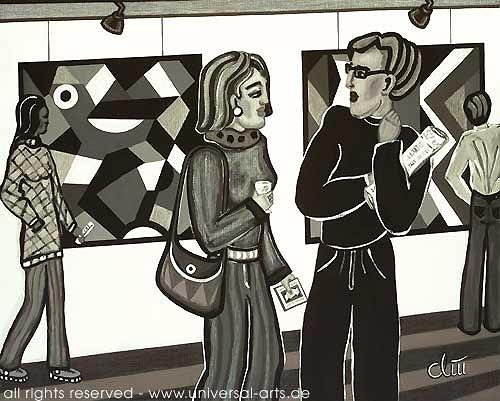 universal arts Jacqueline Ditt & Mario Strack, Der Kritiker von Jacqueline Ditt, People: Group, Society, Expressionism